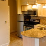 Each unit features a gourmet kitchen with marble countertops & stainless steel appliances.